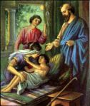 Elisha Raises the Shunammite Woman's Son - II Kings 4:35-37