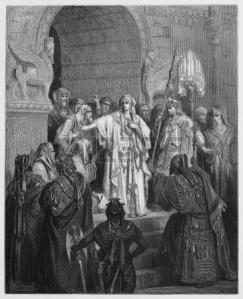 Vashti refuses Ahasuerus