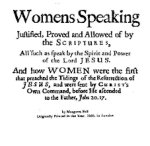 Women speaking